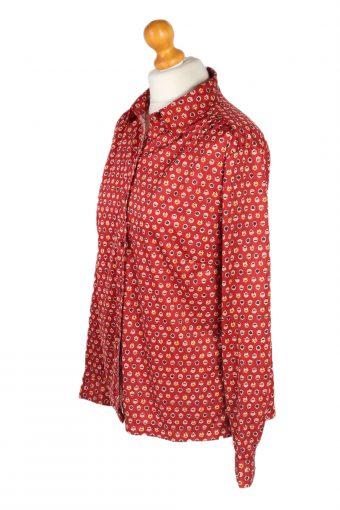 Vintage Unbranded Shirt Long Sleeve L Red LB225-95682