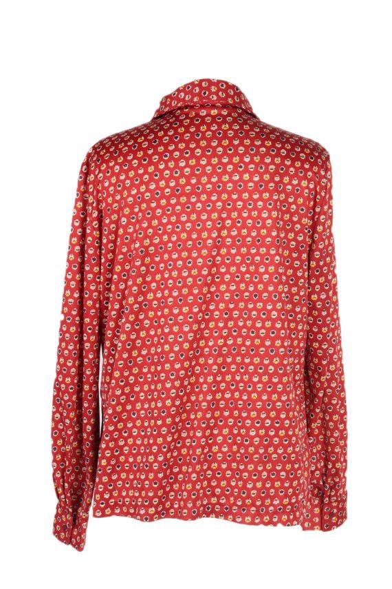 Vintage Unbranded Shirt Long Sleeve L Red LB225-95683