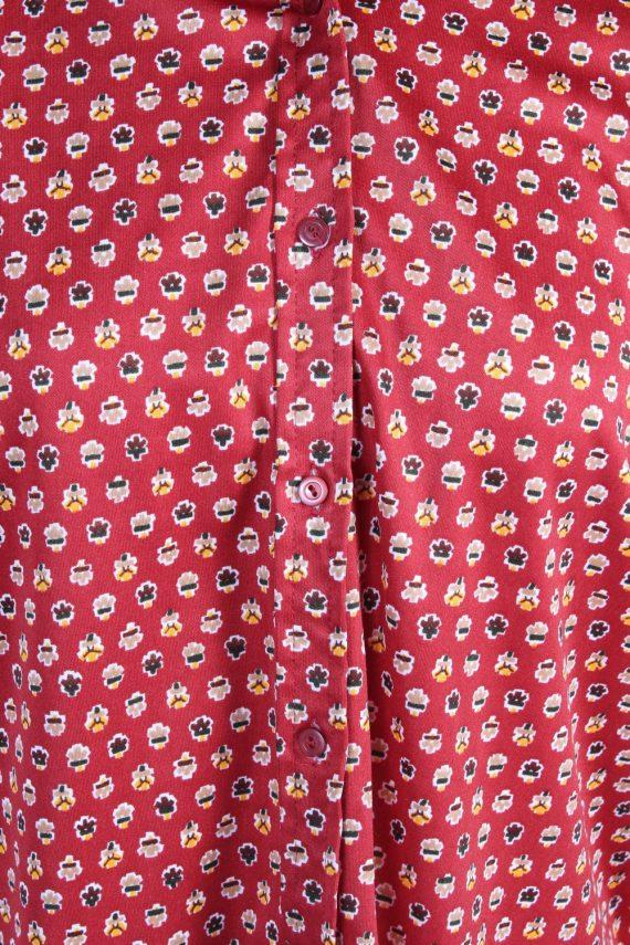 Vintage Unbranded Shirt Long Sleeve L Red LB225-95684