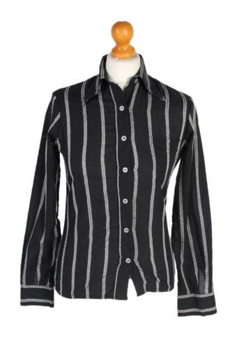 Women 90s Shirt Blouses Long Sleeve Black S