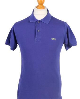 Vintage Lacoste Polo Shirt Short Sleeve Tops S Purple -PT1152-0