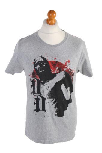 Men T-Shirt 90s Retro Shirt Grey L
