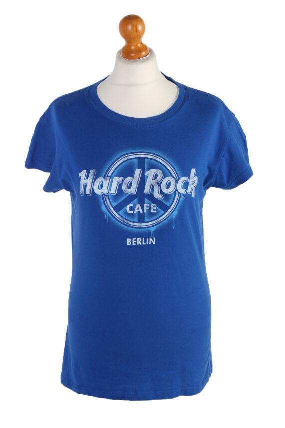 Vintage Hard Roc CAFE Short Sleeve Shirt L Blue TS237-0