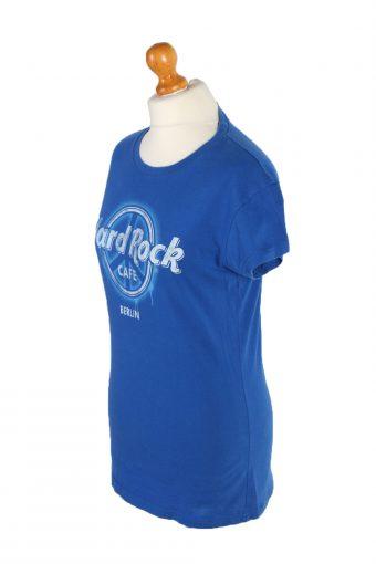 Vintage Hard Roc CAFE Short Sleeve Shirt L Blue TS237-92071