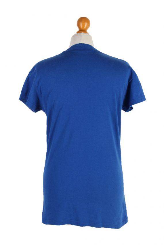 Vintage Hard Roc CAFE Short Sleeve Shirt L Blue TS237-92072