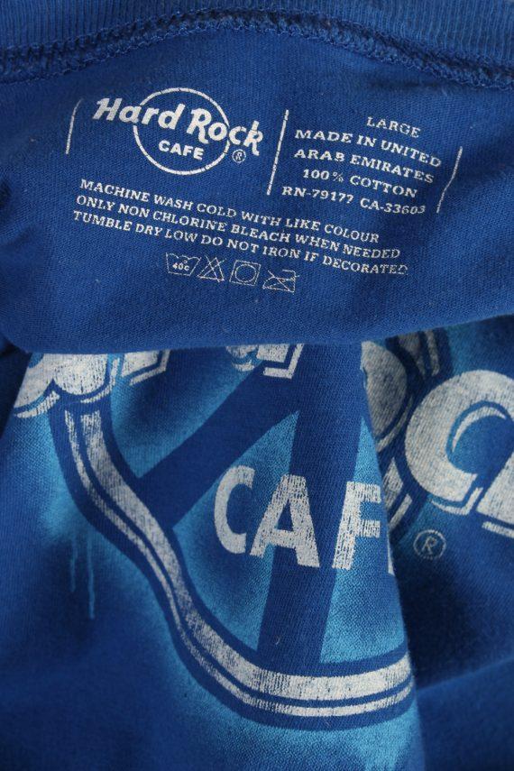 Vintage Hard Roc CAFE Short Sleeve Shirt L Blue TS237-92073