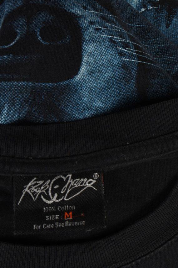 Vintage Rook Hang Remake Wolf Printed T-Shirt M Black TS247-91932