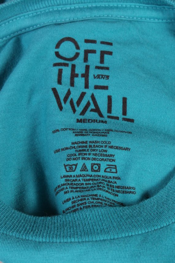 Vintage Off The Wall Remake Cool Dog Printed T-Shirt M Turquoise TS269-92282