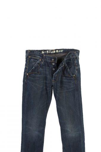 Vintage G-Star Raw Mid Waist Straight Leg Jeans W31 L33 Navy J4004-95775
