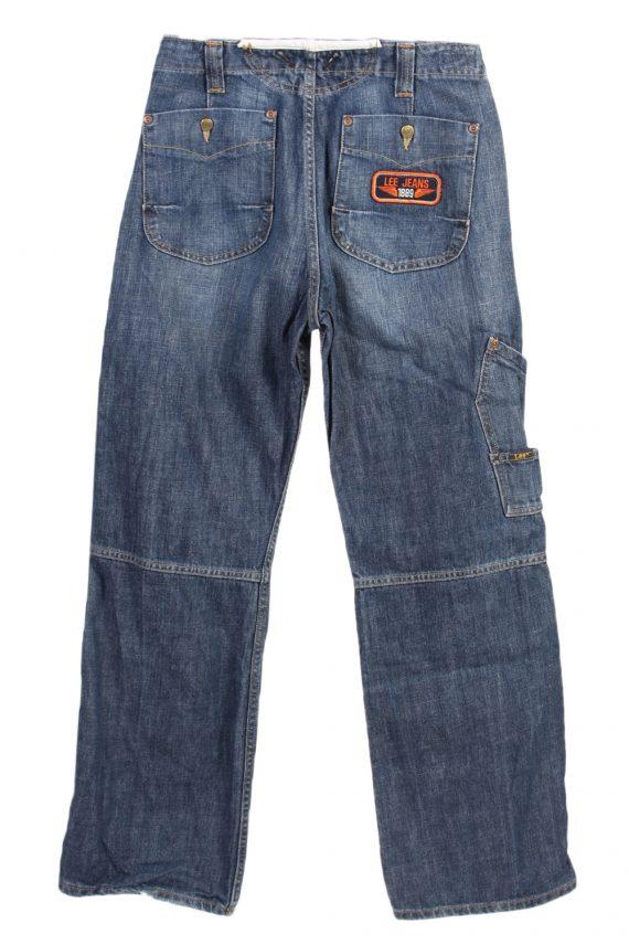 Vintage Lee Mid Waist Jeans Baker Straight Leg 28 in. Blue J4078-98163