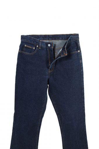 Vintage High Waist Jeans Straight Leg Plain 30 in. Navy J4079-98166
