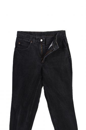 Vintage Mustang High Waist Jeans Straight Leg Plain 29 in. Black J4093-98222