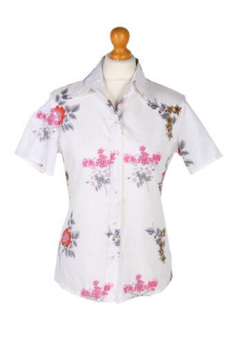 Women 90s Shirt Blouses Long Sleeve White XL
