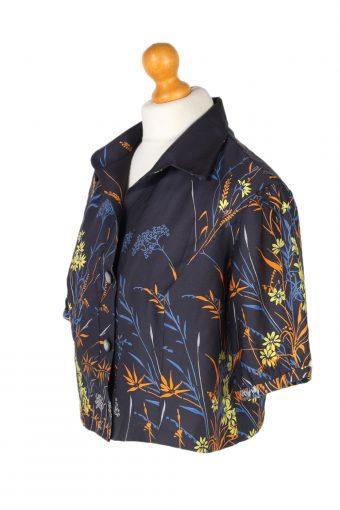 Vintage Siriem Shirt Short Sleeve M Navy LB238-96772