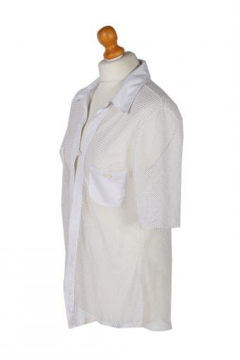 Vintage Migison Shirt Short Sleeve M White LB242-96788