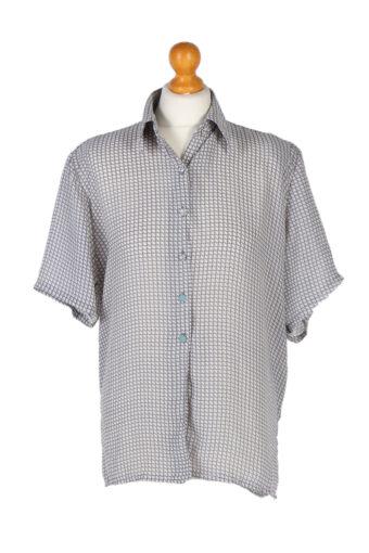 Women 90s Shirt Blouses Short Sleeve M