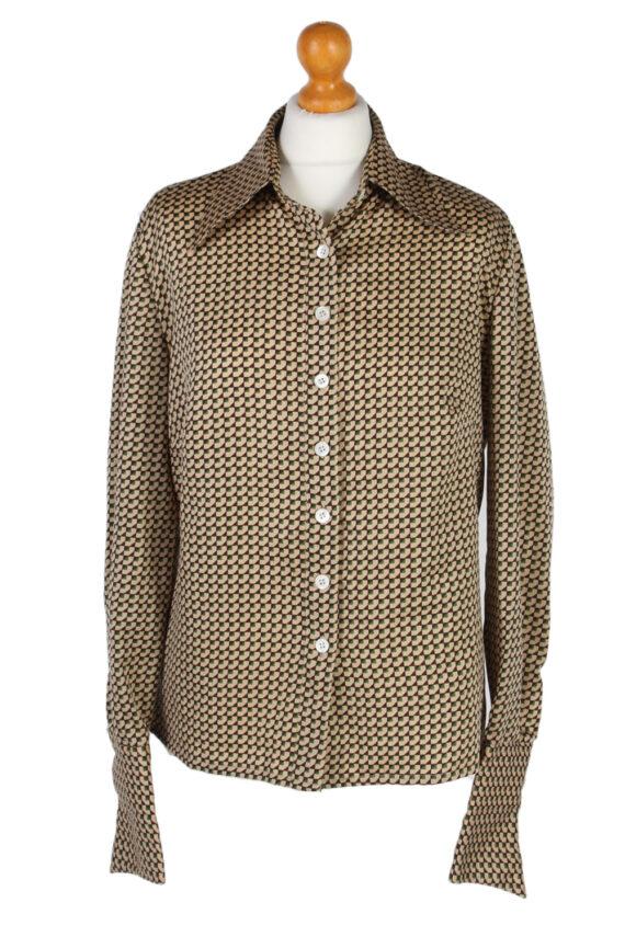 Vintage Del Mod Shirt Long Sleeve L Brown LB251-0