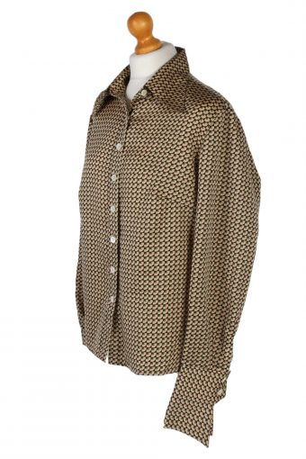 Vintage Del Mod Shirt Long Sleeve L Brown LB251-96854