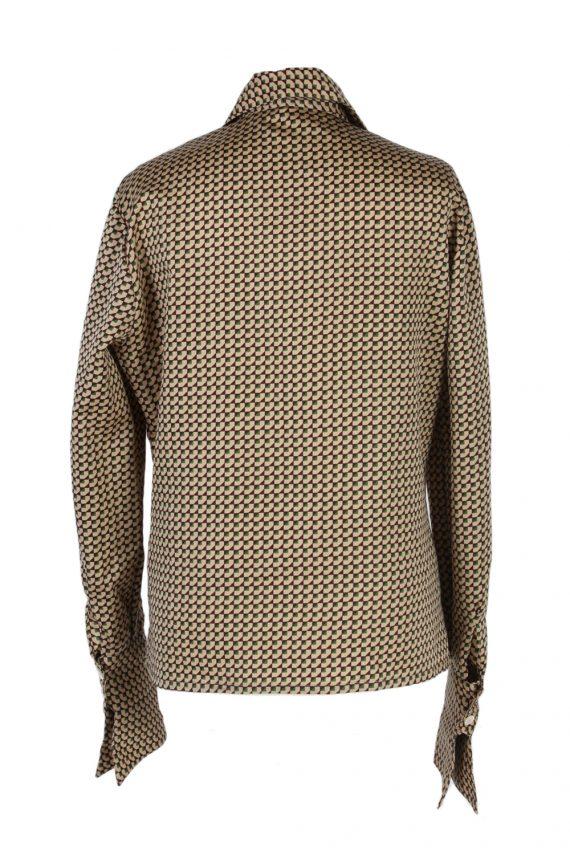 Vintage Del Mod Shirt Long Sleeve L Brown LB251-96855