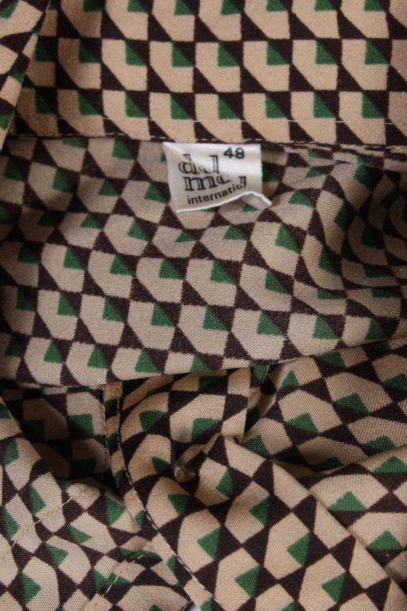 Vintage Del Mod Shirt Long Sleeve L Brown LB251-96856