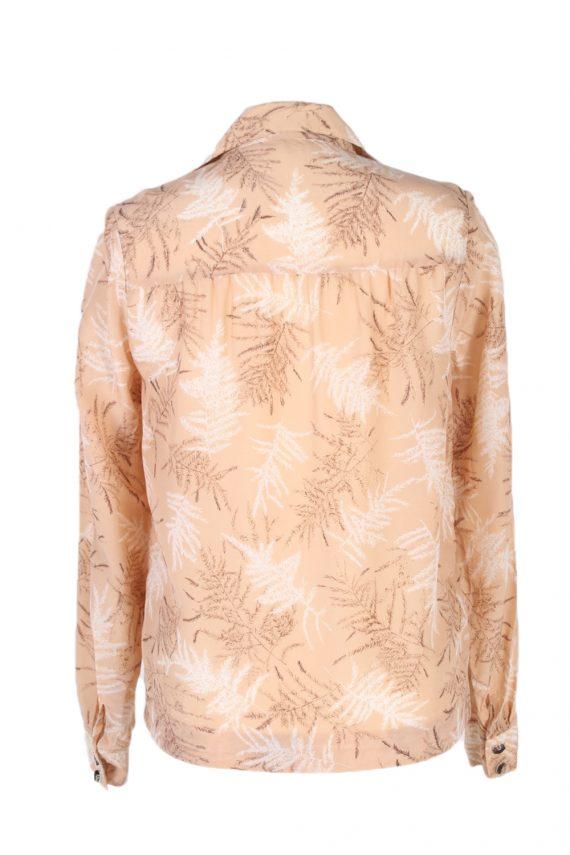 Vintage Lady Blouses Shirt Long Sleeve S Brown LB257-96875