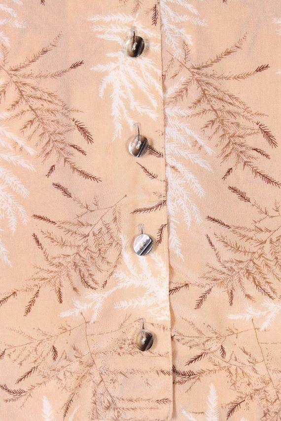 Vintage Lady Blouses Shirt Long Sleeve S Brown LB257-96876