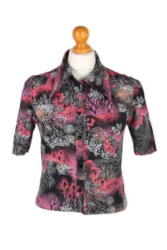 Women 90s Shirt Blouses Long Sleeve M