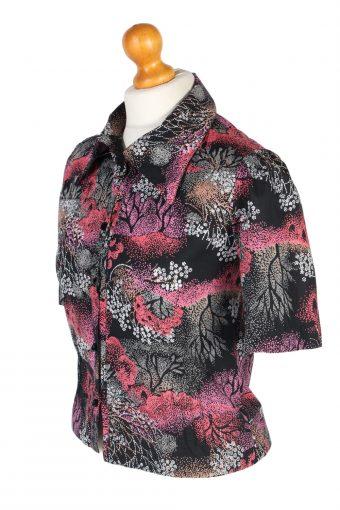 Vintage Lady Blouses Shirt Short Sleeve S Multi LB265-96906
