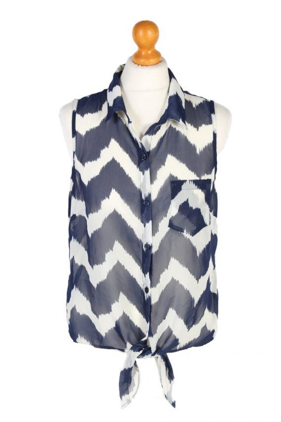 Vintage Charlotte Russe Shirt Sleeveless M Multi LB271-0