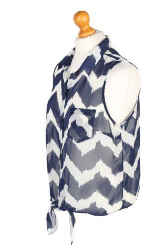 Vintage Charlotte Russe Shirt Sleeveless M Multi LB271-96930