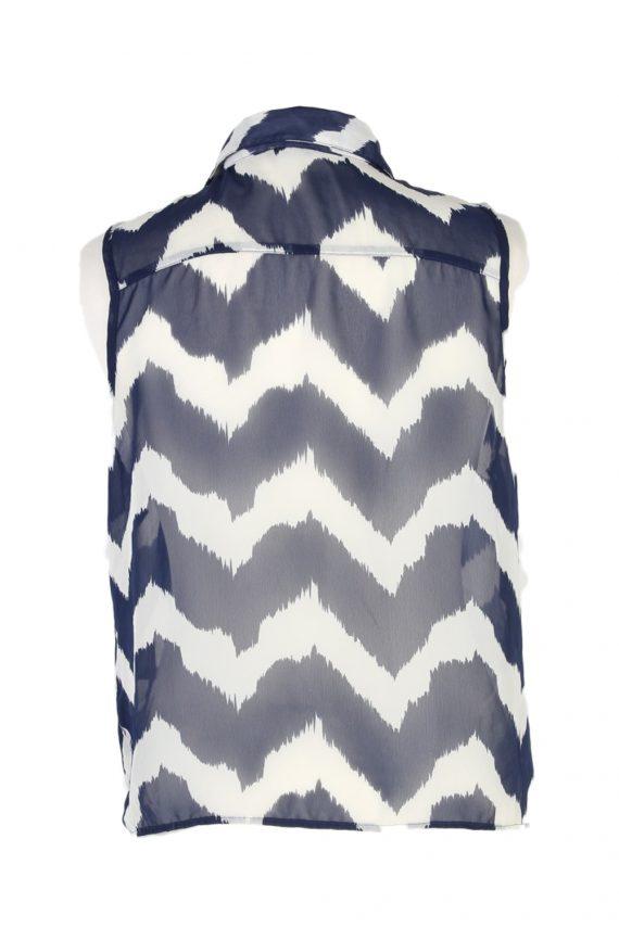 Vintage Charlotte Russe Shirt Sleeveless M Multi LB271-96931