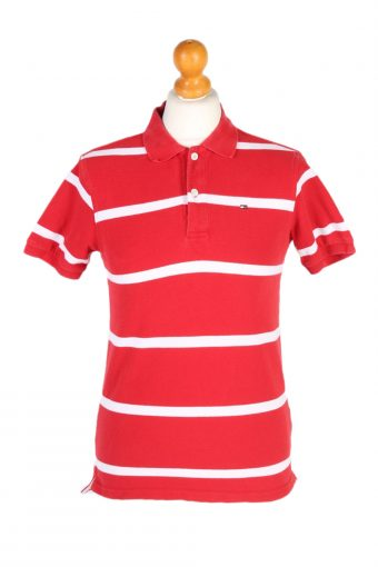 Tommy Hilfiger Polo Shirt 90s Retro Red L