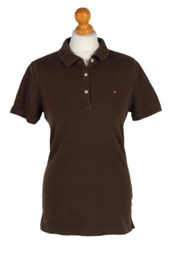 Tommy Hilfiger Polo Shirt 90s Retro Brown M