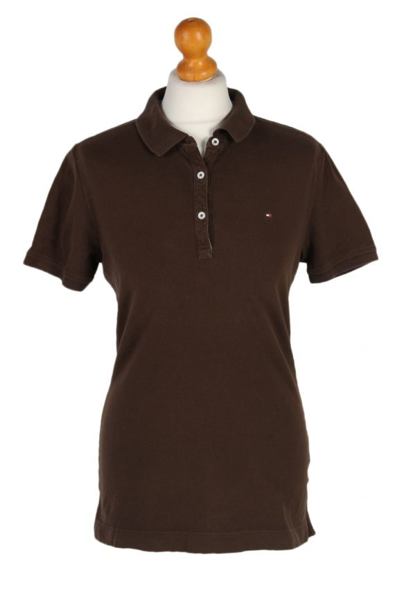 Vintage Tommy Hilfiger Polo Shirt Short Sleeve Tops M Brown -PT1180-0
