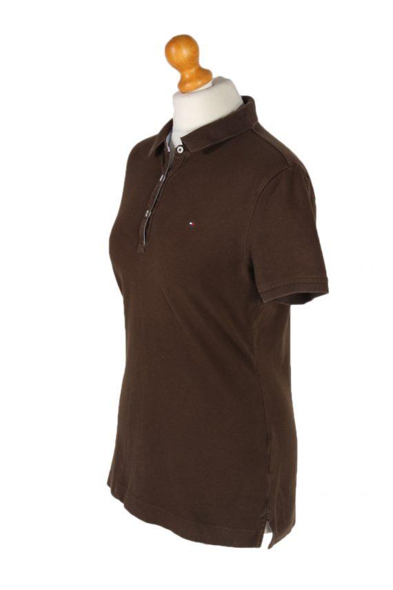 Vintage Tommy Hilfiger Polo Shirt Short Sleeve Tops M Brown -PT1180-96028