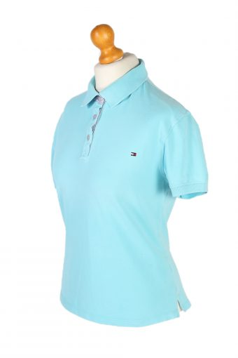 Vintage Tommy Hilfiger Polo Shirt Short Sleeve Tops XL Turquoise -PT1183-96040