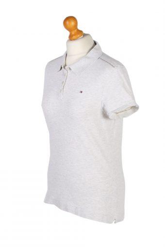 Vintage Tommy Hilfiger Polo Shirt Short Sleeve Tops L Light Grey -PT1189-96064