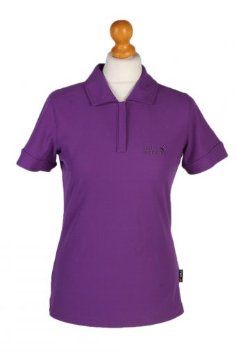 Jack Wolfskin Polo Shirt 90s Retro Purple S