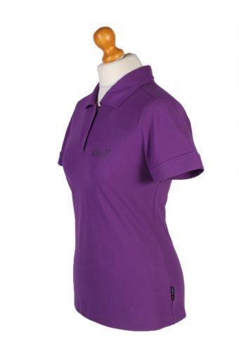 Vintage Jack Wolfskin Polo Shirt Short Sleeve Tops M Purple -PT1191-96072