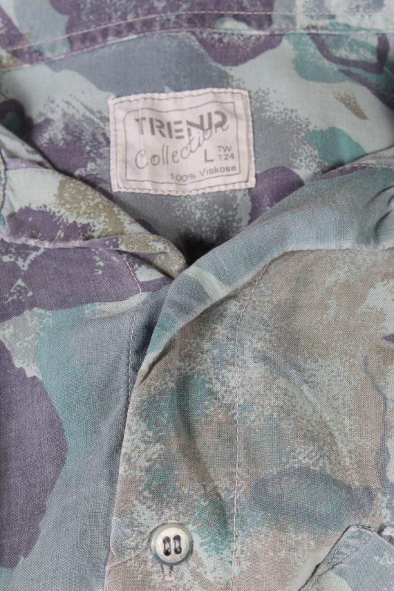 Vintage Trend Collection Designer Hawaiian Shirt L Multi SH3370-96718