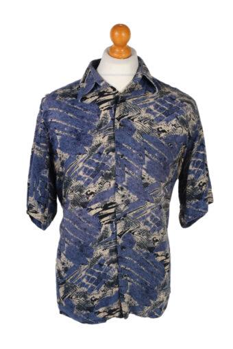 Hawaiian Shirt 90s Retro Summer Aloha Blue L