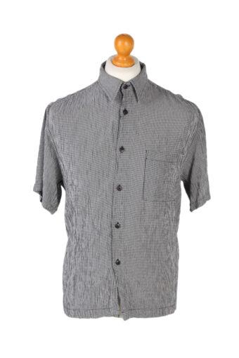 Hawaiian Shirt 90s Retro Summer Aloha Grey L
