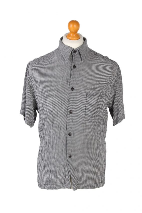 Vintage Jenes New York Festival Hawaiian Shirt L Grey SH3375-0