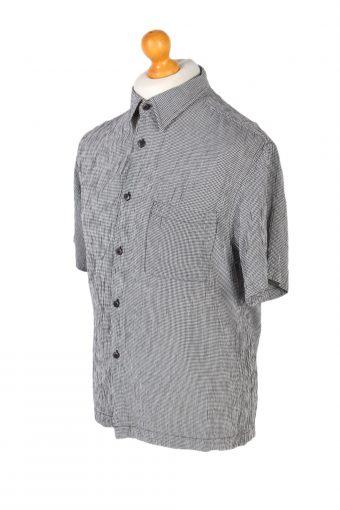 Vintage Jenes New York Festival Hawaiian Shirt L Grey SH3375-96736