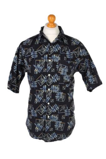 Hawaiian Shirt 90s Retro Summer Aloha Navy M