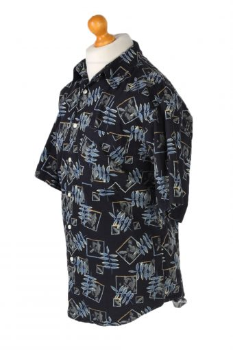 Vintage Penmans Floral Printed Hawaiian Shirt M Navy SH3388-96640