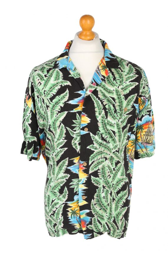 Vintage Michelle's Fashion Island Printed Hawaiian Shirt L Multi SH3399-0