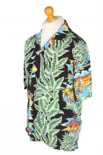 Vintage Michelle's Fashion Island Printed Hawaiian Shirt L Multi SH3399-97031