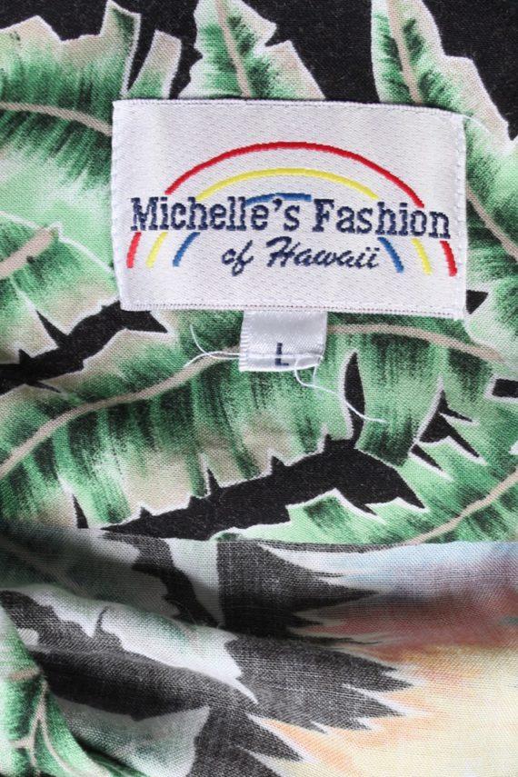 Vintage Michelle's Fashion Island Printed Hawaiian Shirt L Multi SH3399-97033