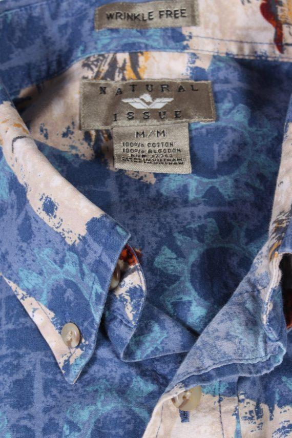 Vintage Natural Issue Island Printed Hawaiian Shirt M Blue SH3408-97069